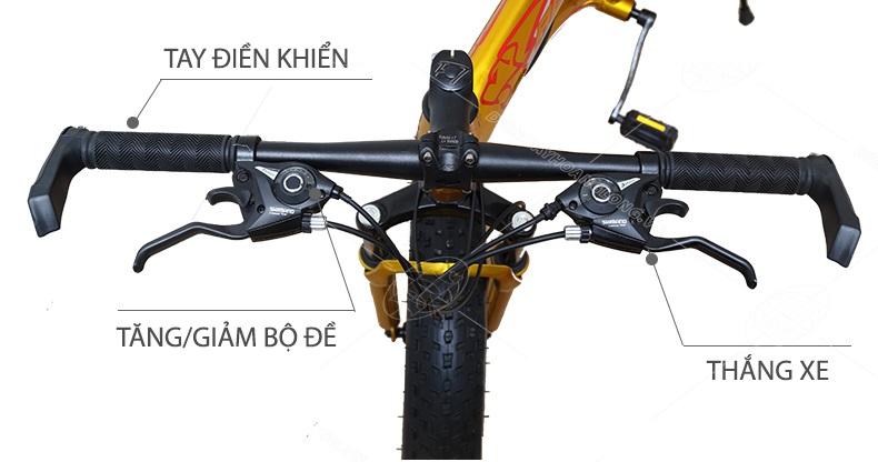hình ảnh Xe đạp bánh to AOMENA-007 (Vàng) - 008 (Đen)